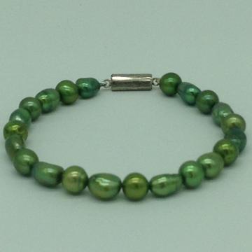 Green OvalPearls 1 Layers BraceletJBG0183