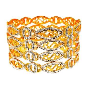 1 gram gold forming cnc cut bangles mga - bge0285