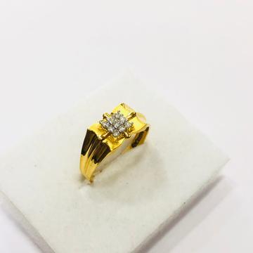 22kt, 916 HM, yellow gold Patterned ring for men jkr203