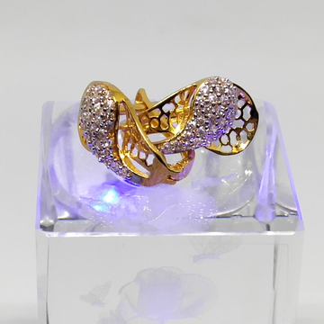 18Kt gold cz diamond earring dj-e008