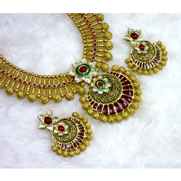 22k 916 heavy colorful jadtar set