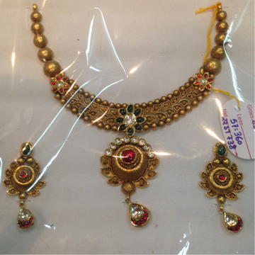 916 gold bridal necklace