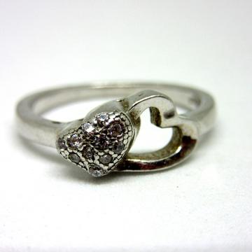 Silver 925 double heart shape ring sr925-43 by