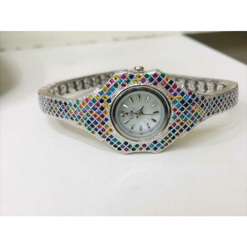 92.5 Sterling Silver Square Type Look Watch Ms-288... by