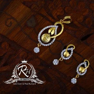 22 carat gold classic mangalsutra set RH-MS848