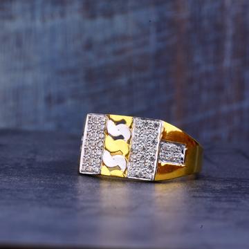 Mens 22K Gold Designer Ring-MR440