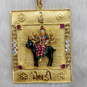 Antique Meladi Maa 916 Gold Gent's pendant