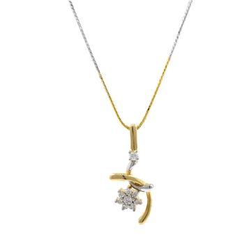 Mignonne Floral Diamond Pendant in Yellow Gold 7SHP58