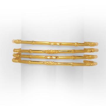 22KT/916 DECENT DESIGNED 4 PIPE GOLD COPPER KADLI by