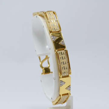 916 Gold Fancy Gents Lucky bracelet KV-GB001