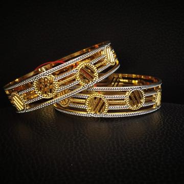 916 Hallmark Gold Unique Design Bangle by Pratima Jewellers