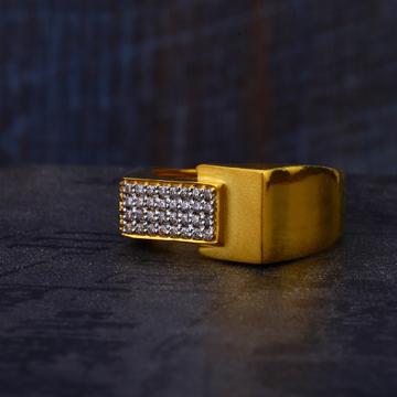 22KT Gold Classic Cz Hallmark Mens Ring MR530