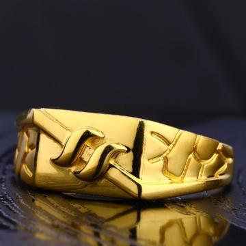22 carat gold stylish plain gents rings RH-GR621
