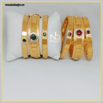 916 Gold Patla Bangles NB-293