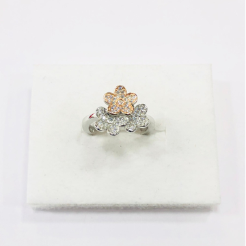 925 sterling silver three flower ring for women.