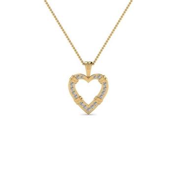 22kt, 916 Hm, Yellow Gold textured heart Pendant Jkp013.