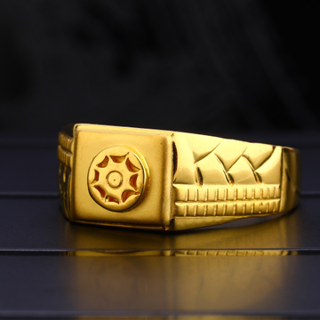 22KT Men's Plain Hallmark Stylish Gold  Ring MPR124