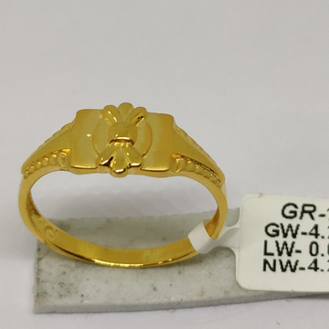 916 Gold CZ Gents Ring sOG-R96 by S. O. Gold Private Limited