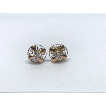 18k Fancy Rose Earring E-60526