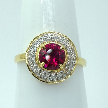 rose Gold Women Ring LMJ-911 by Lalit Manohar Jewellers