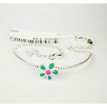 925 Silver Baby Bracelet With Flower Shape