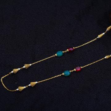 22kt Gold Fancy Women's Antique Chain Mala AC134
