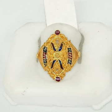22KT Gold Traditional Ladies Ring ML-LR003