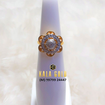 916 Double Layer Cz Ladies Ring