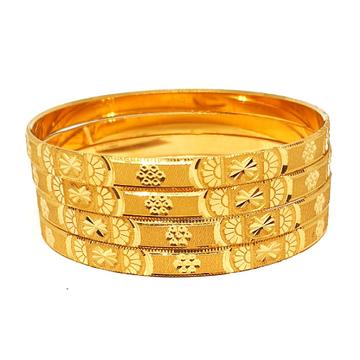 One gram gold forming plain bangles mga - bge0318