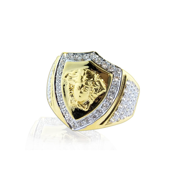 916 Gold Designer CZ Ring For Men SO-R003