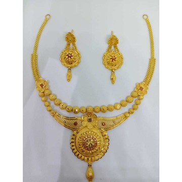 916 gold antique necklace set bj-n09