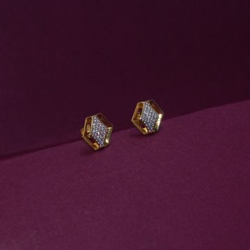 22KT Hallmarked Classic Gemstone Earring by Simandhar Jewellers
