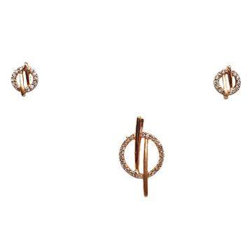 925 Rose Silver Fancy Pendant Set MGA - PTS0113