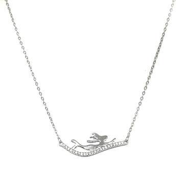 925 Sterling Silver Modern Necklace MGA - NKS0031