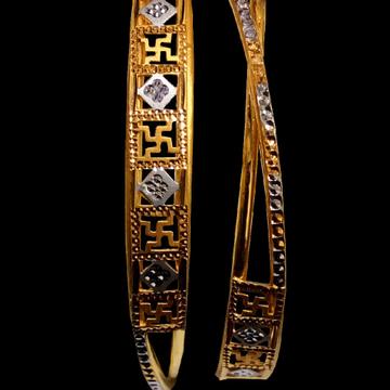22ct Gold swastik Bangle SG-45 by