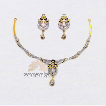 22k-Light-Weight-CZ-Gold-Necklace