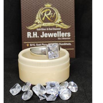 silver real diamond shukra ring RH-SR606