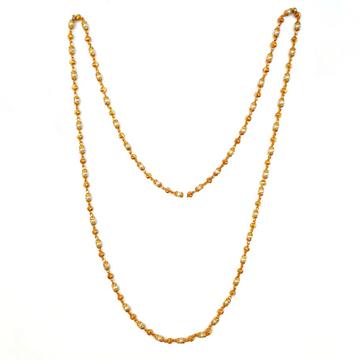 1 Gram Gold Forming Moti Mala Chain MGA - MLE0020
