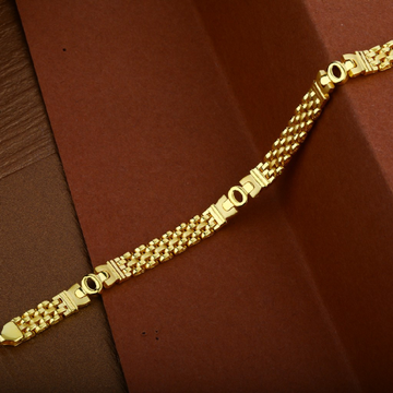 Mens 916 Gold Cartier Daily Wear Cz Bracelet-MCRB22