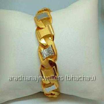 22KT Gold Indian Fancy Gents Bracelet