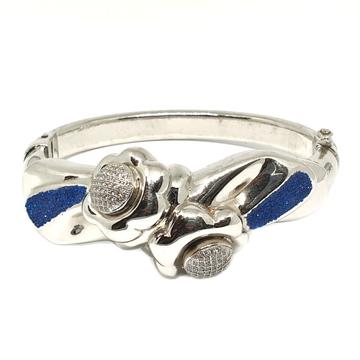 92 Sterling Silver Flower Shaped Bracelet MGA - KR...