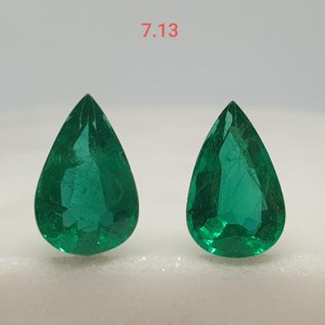 7.13ct drop green emerald VG-E02