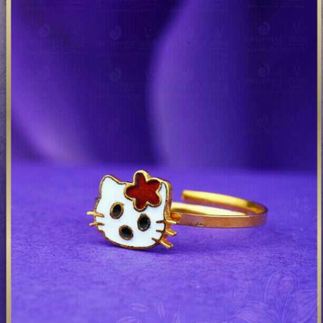 22kt Kids Kitty Ring