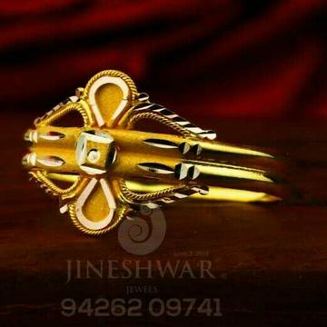 Fancy Plian Gold Ladies Ring LRG -0831