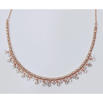 Rose Gold Plated Modern Necklace For Women VJ-N012 by