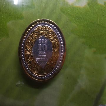 silver gold Ganga jamna 2 two ton Victoria king(raja) coin (sikka) 03