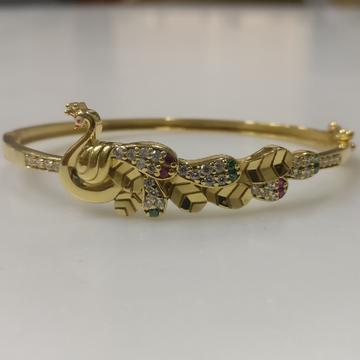 22kt gold Kada peacock Bracelet