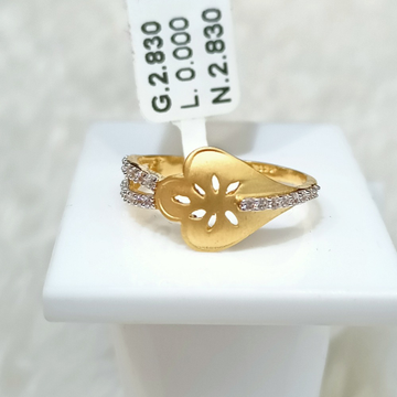 22 KT PETAL DESIGN RING by