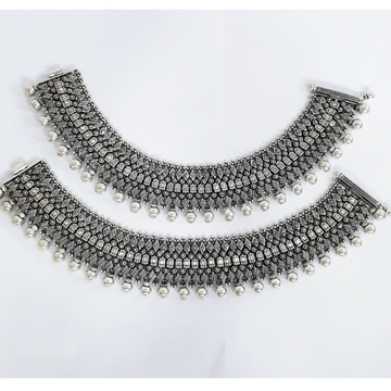 925 Pure Silver Antique Payal Handmade PO-208-17