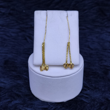 22KT/916 Yellow Gold Fancy Ser Hanging Earrings GTB-18